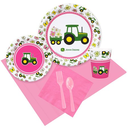 John Deere Pink 16 Guest Party Pack](John Deere Party Decorations)