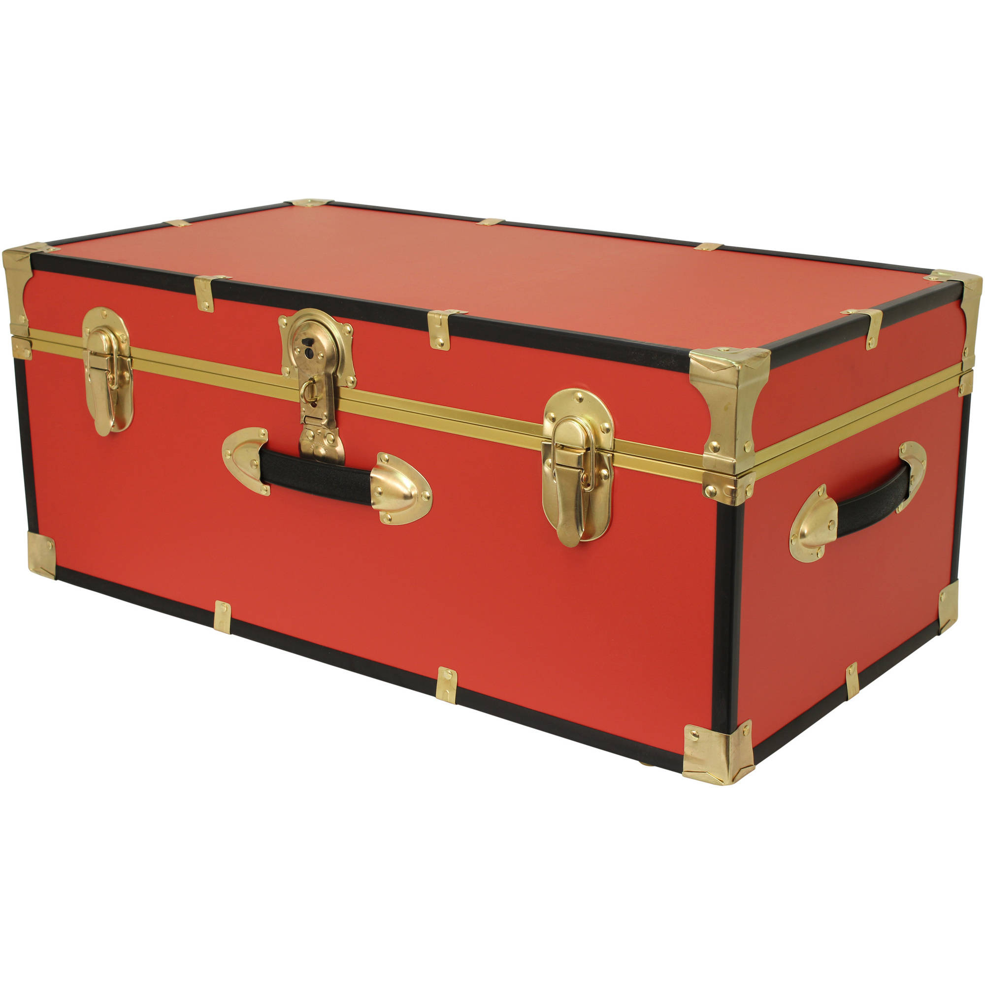 Seward Trunk Collegiate Collection Footlocker Trunk 25 Gal. Wood Storage  Box With Handles, Black   Walmart.com