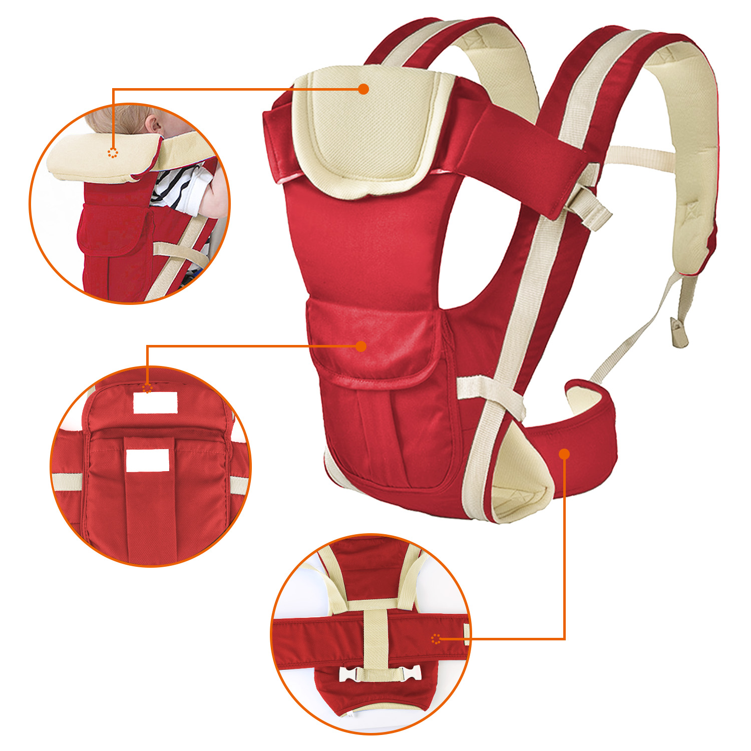 Red Baby Carrier by GPCT