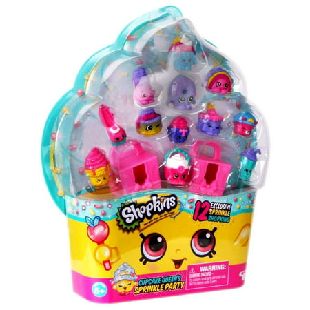 Shopkins Cupcake Queens Sprinkle Party Mini Figure 12 Pack
