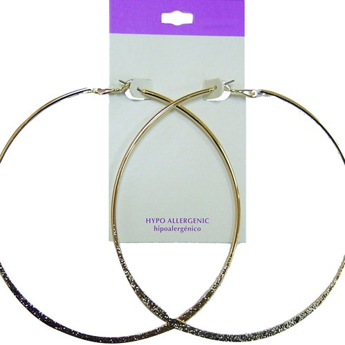 Everyday Essentials Gold-Tone Large Single Hoop Earrings