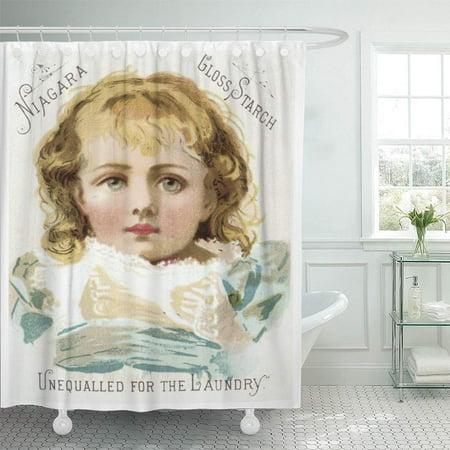 CYNLON Old Laundry Soap Vintage Trade Time Retro Bathroom Decor Bath Shower Curtain 60x72 inch