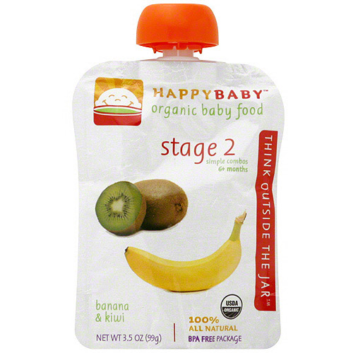 Happy Tot Organic Stage 2 Banana & Kiwi Baby Food, 3.5 oz (Pack of 16)