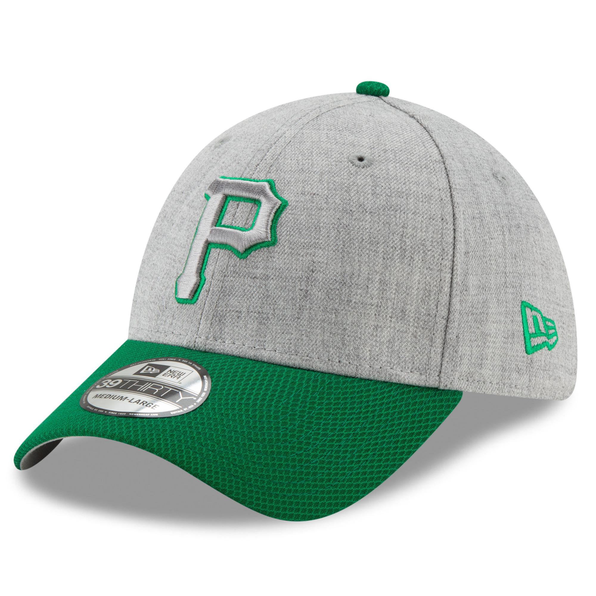 Pittsburgh Pirates New Era St. Patrick's Day Change Up Redux 39THIRTY Flex Hat - Gray/Green