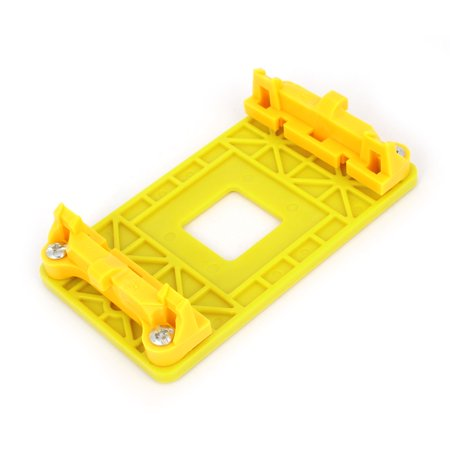 Socket A55 AMD CPU Fan Heatsink Motherboard Retainer Mounting Bracket Yellow