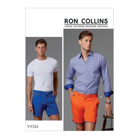 Vogue Patterns Sewing Pattern Men's Shorts-30-32-34-36 Easy Free Sewing Patterns