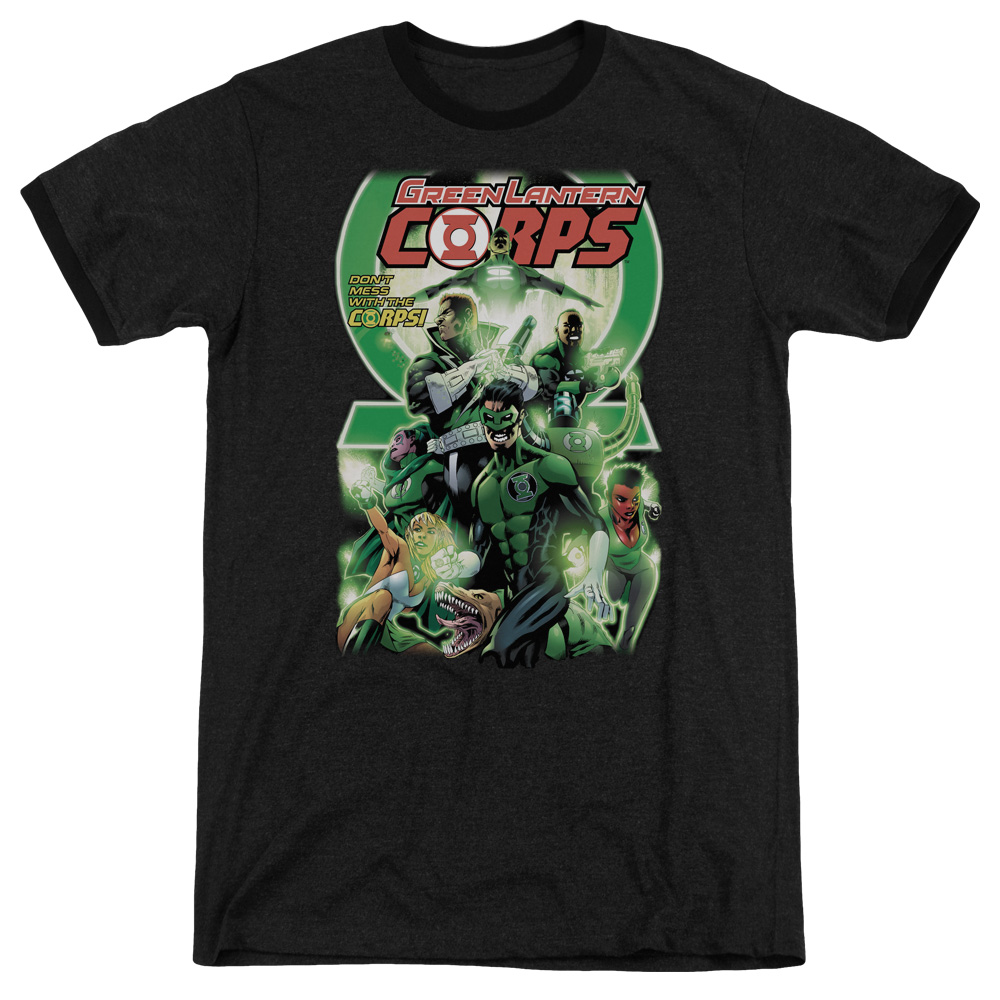 Green Lantern Gl Corps #25 Cover Mens Adult Heather Ringer Shirt