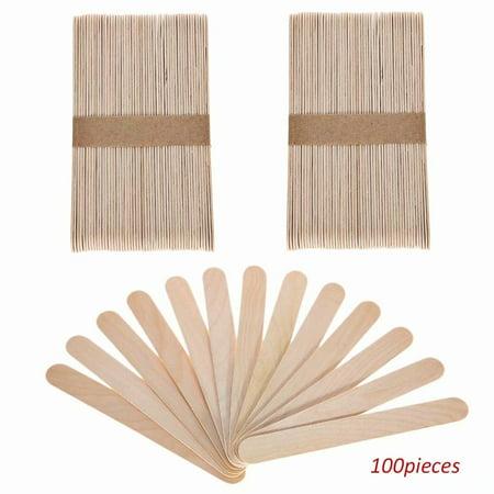 Large Popsicle Sticks (100 Pcs Craft Sticks Ice Cream Sticks Wooden Popsicle Sticks Large 6