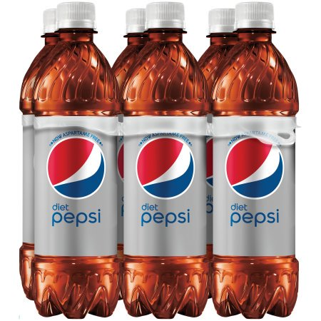 (4 Pack) Diet Pepsi Soda, 16.9 Fl Oz, 6 Count ()
