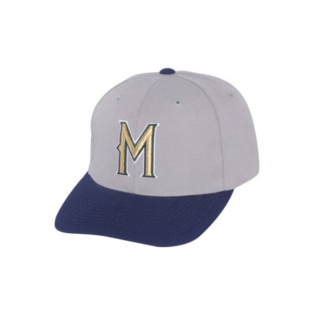 Milwaukee Brewers MLB Adjustable Hook and Loop Closure Strap Classic Hat - Grey - image 1 de 2