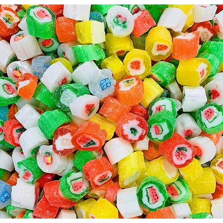 Christmas Cut Rock Hard Candy | Seasonal Bulk Unwrapped Retro Candy | 4 pounds](Retro Candy)