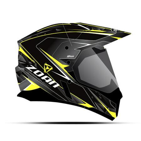Zoan Synchrony Dual Sport Helmet   Hawk  Yellow   Xs