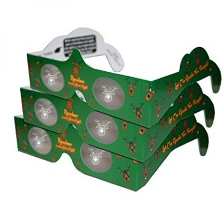 3d christmas glasses holiday specs reindeer 3 pairs transform christmas lights into