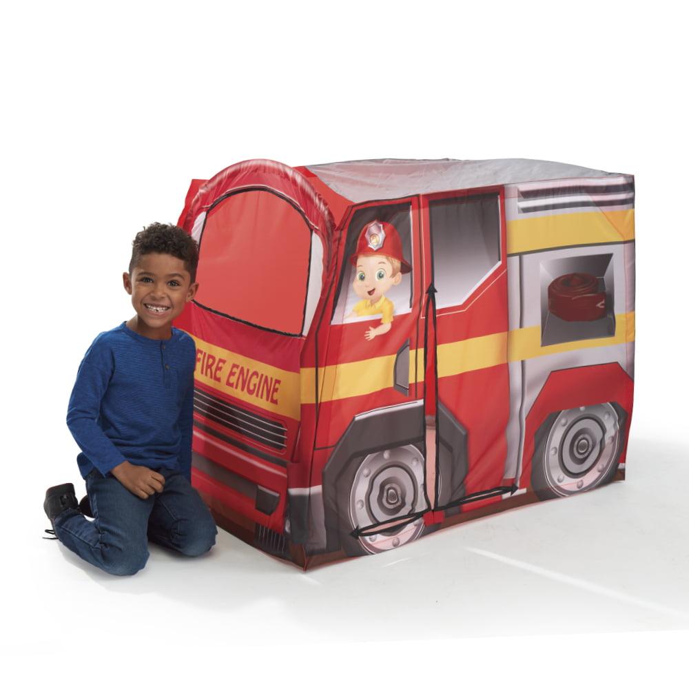 US Folding Outdoor Fire Engine Design Playhouse Car Tent Portable Kids Play Yard