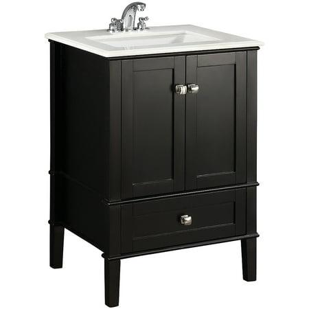 Brooklyn Max Chesapeake 24 Black Bath Vanity
