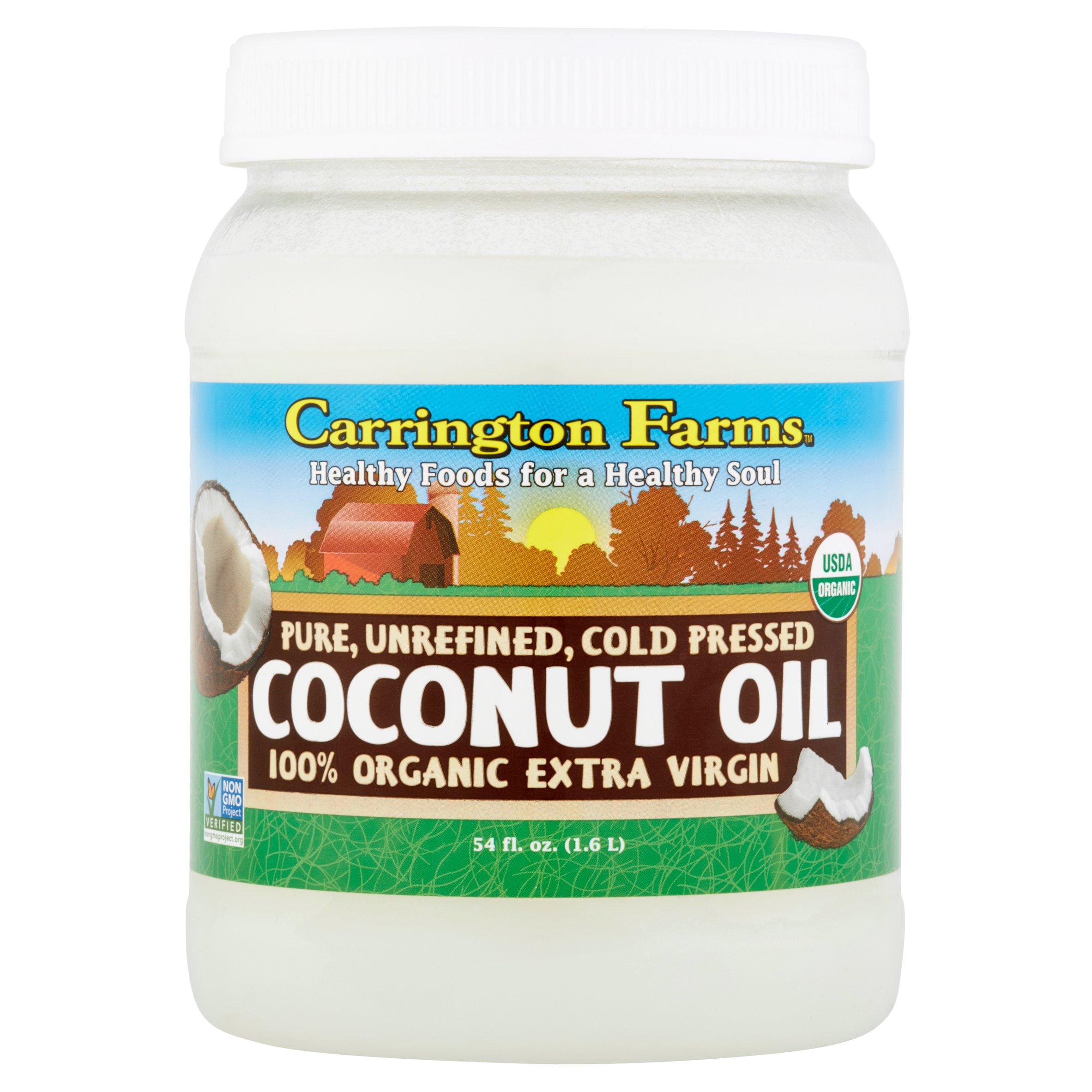 Carrington Farms UnRefined Organic Coconut Oil 54oz by Carrington Farms