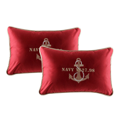 MB Coastal Designs Free Style Anchor Throw Pillow (Set of 2)