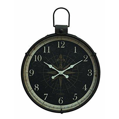 3R Studios 30.75 in. Metal Compass Wall Clock