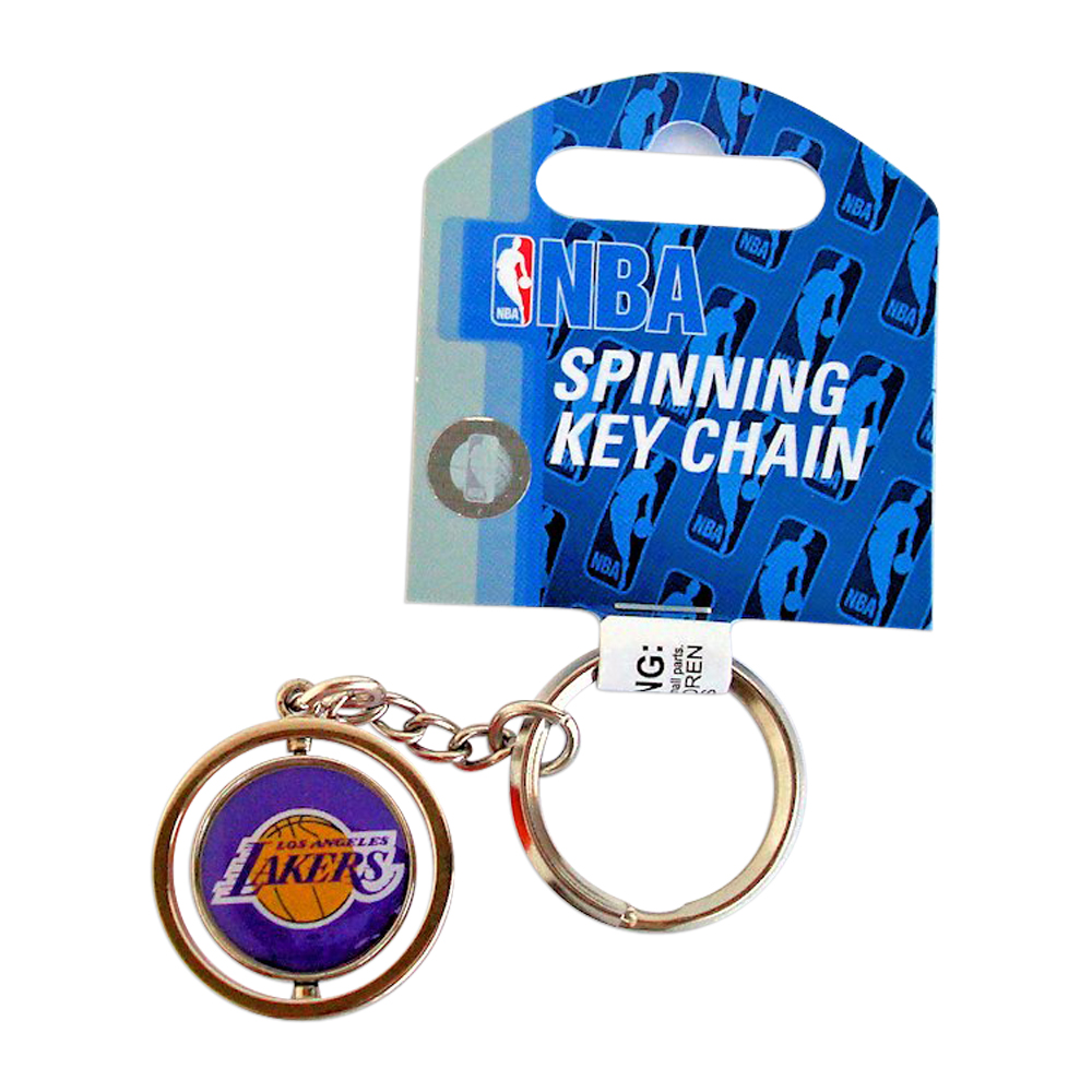 Los Angeles Lakers 3D basketball MBA Team Logo Spinning key Ring Keychain