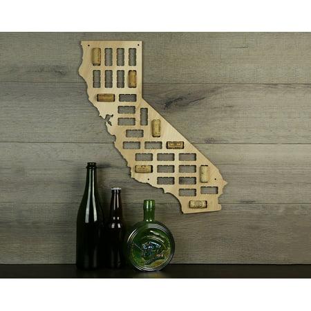 Wine Cork Traps State of California Wooden Wine Cork Holder Organizer Wall Decoration ()