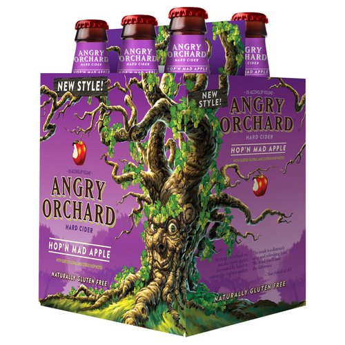 Angry Orchard Hop'N Mad Apple Hard Cider, 6 pack, 12 fl oz