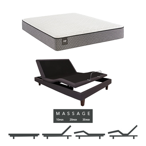 Bernstein King Size Firm Tight Top Mattress and Adjustable Base with Massage Feature Sealy Response Essentials Mattress by Sealy