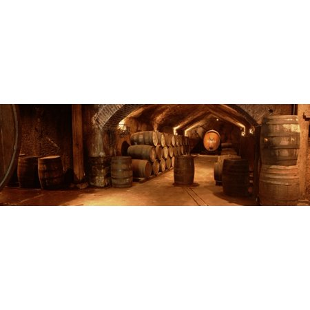Wine barrels in a cellar Buena Vista Carneros Winery Sonoma Sonoma Valley Sonoma County California USA Poster Print (Napa Cellars Winery)