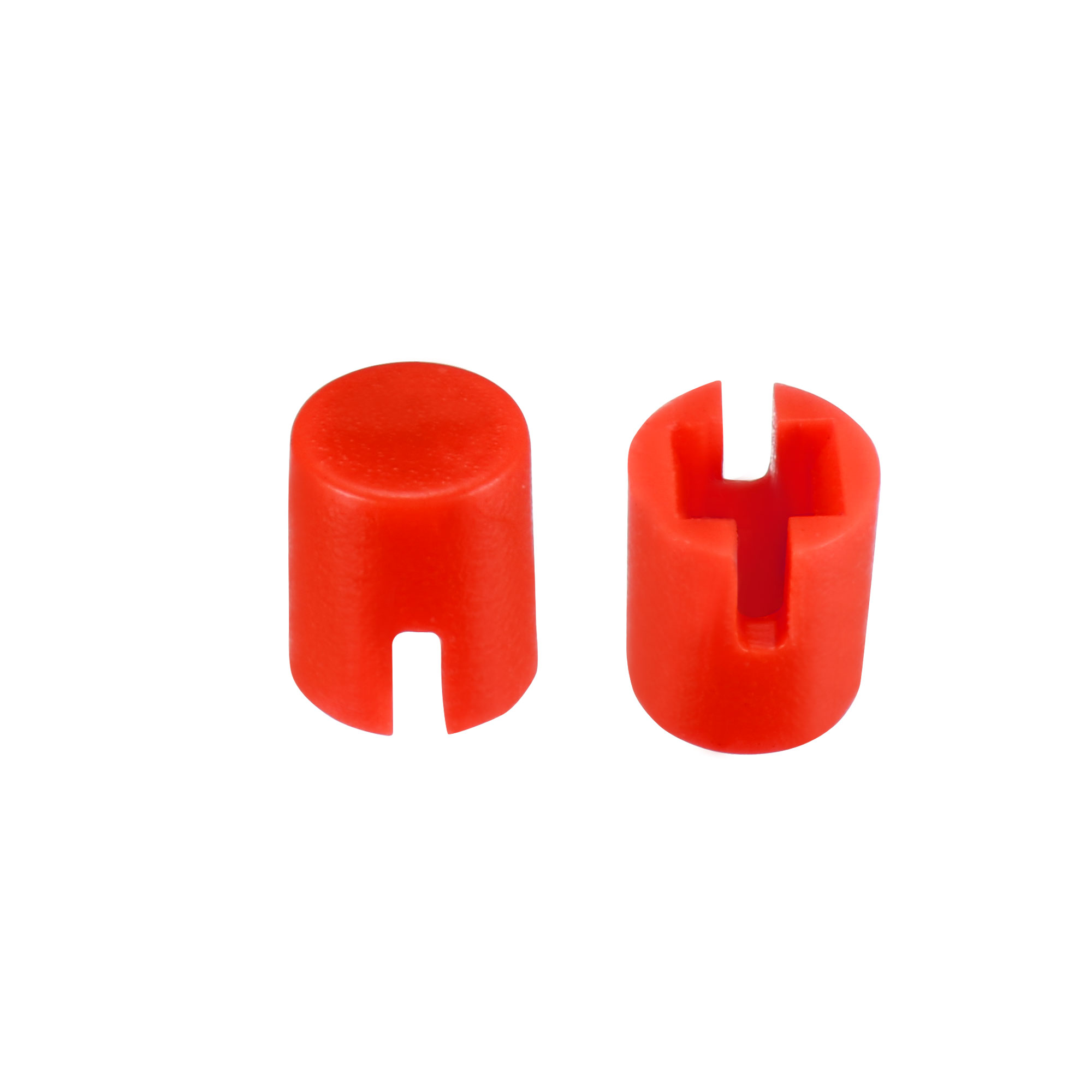 50Pcs 4.6x5.5mm Pushbutton Switch Caps Cover Red for 6x6x7.3mm Tact Switch