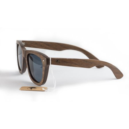 Real Solid Wooden Walnut Sunglasses Design Polarized Lenses with Gift Box by Viable (Sunglasses Gift Box)