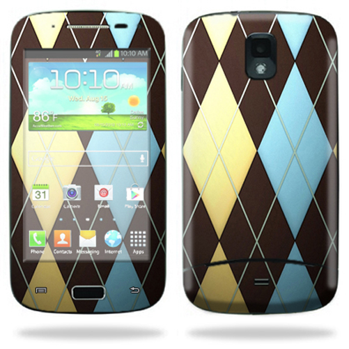 Mightyskins Protective Skin Decal Cover for Samsung Galaxy S Relay 4G T699 Cell Phone T-Mobile wrap sticker skins Argyle