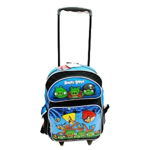 """CK New Full Size Blue Angry Birds 16"""" school Rolling Back..."""