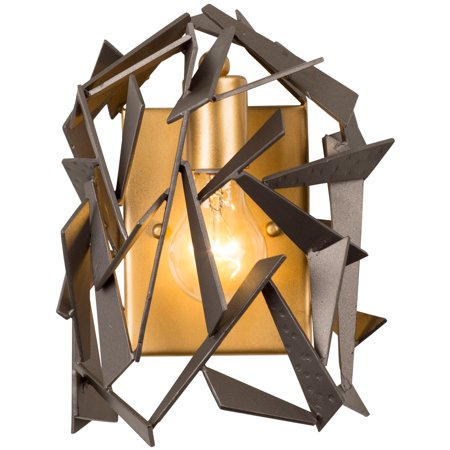 Varaluz - Bermuda - 1 Light Wall Sconce - Antique Gold Finish with Rustic Bronze