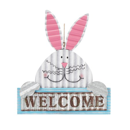 Way To Celebrate Easter Metal Bunny Wall Decor, Welcome - Metal Easter Buckets