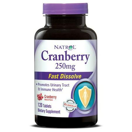 Natrol Cranberry Fast Dissolve 250mg Tablets, 120 Ct