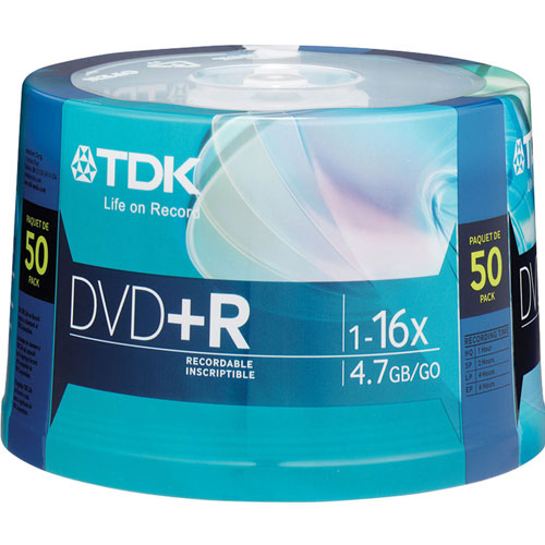 TDK 16X DVD+R 50 Pack Spindle