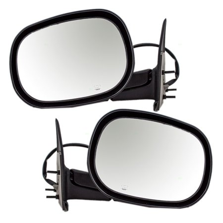 Heated Truck Mirrors (Driver and Passenger Power Side View Mirrors Heated 6x9 Replacement for Dodge Pickup Truck SUV 55077079AB 55077078AC )