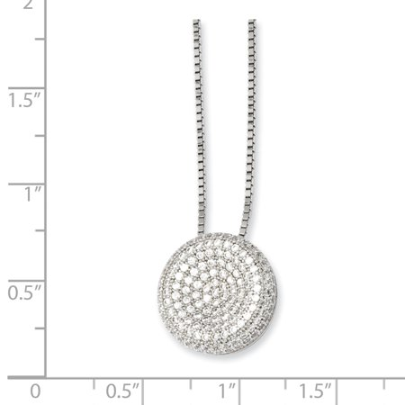 925 Sterling Silver Cubic Zirconia Cz Chain Necklace Pendant Charm Fine Jewelry Gifts For Women For Her - image 1 de 6