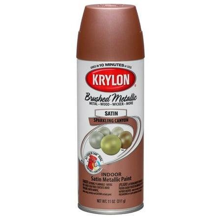 Krylon ColorMaster Brushed Metallic Satin Spray Paint