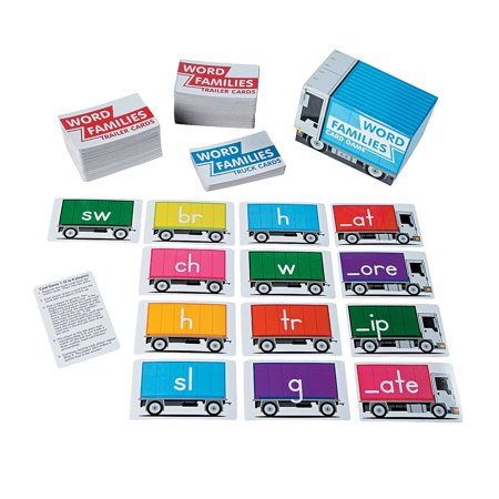 Fun Express - Word Family Card Game - Educational - Teaching Aids - Language Arts - 271 Pieces (Word Families Cards)