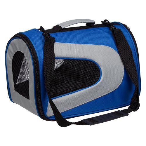 Pet Life Airline Approved Folding Sporty Mesh Carrier