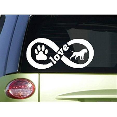 American Bully Infinity sticker *H381* 4 x 8.5 inch vinyl pitbull love decal