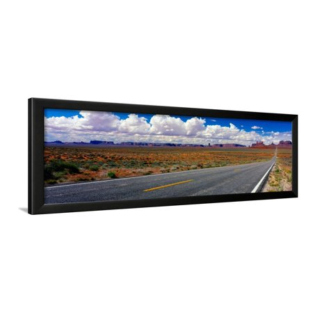 Scenics view of road to Monument Valley, Utah, USA Framed Print Wall Art - Monument Valley Usa Framed