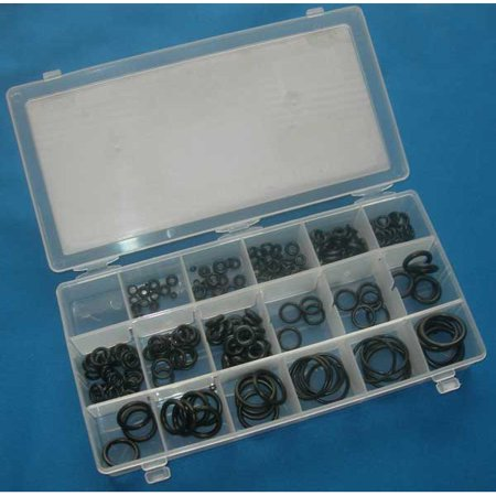 - 225 Piece O-Ring Assortment Rubber Gasket Seal Oring