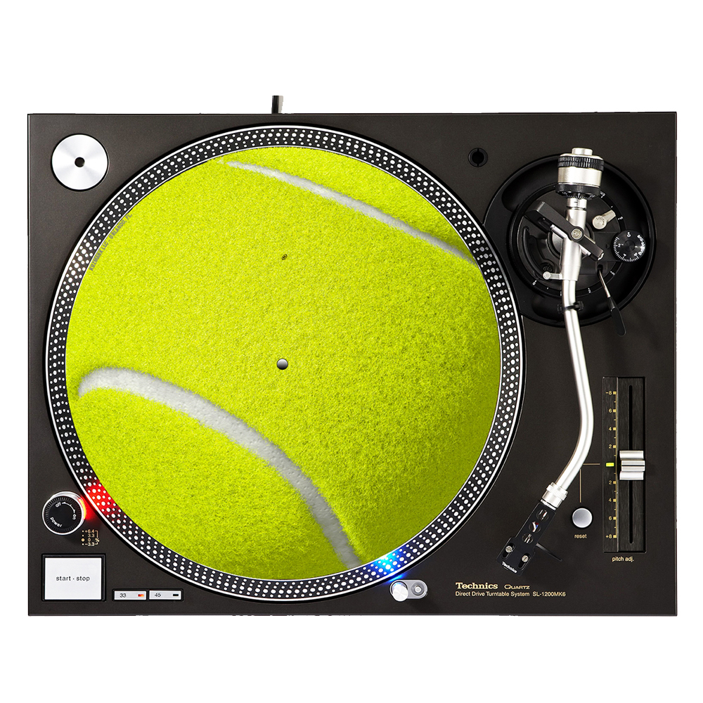 "KuzmarK 12"" DJ Turntable Slipmat Tennis Ball by KuzmarK"