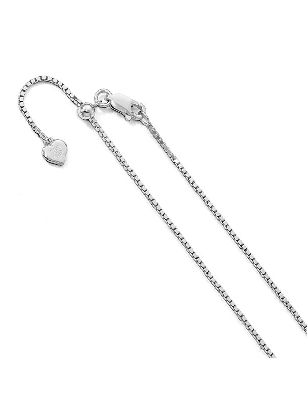 Sterling Silver Rhodium-plated 1.4mm Box Chain