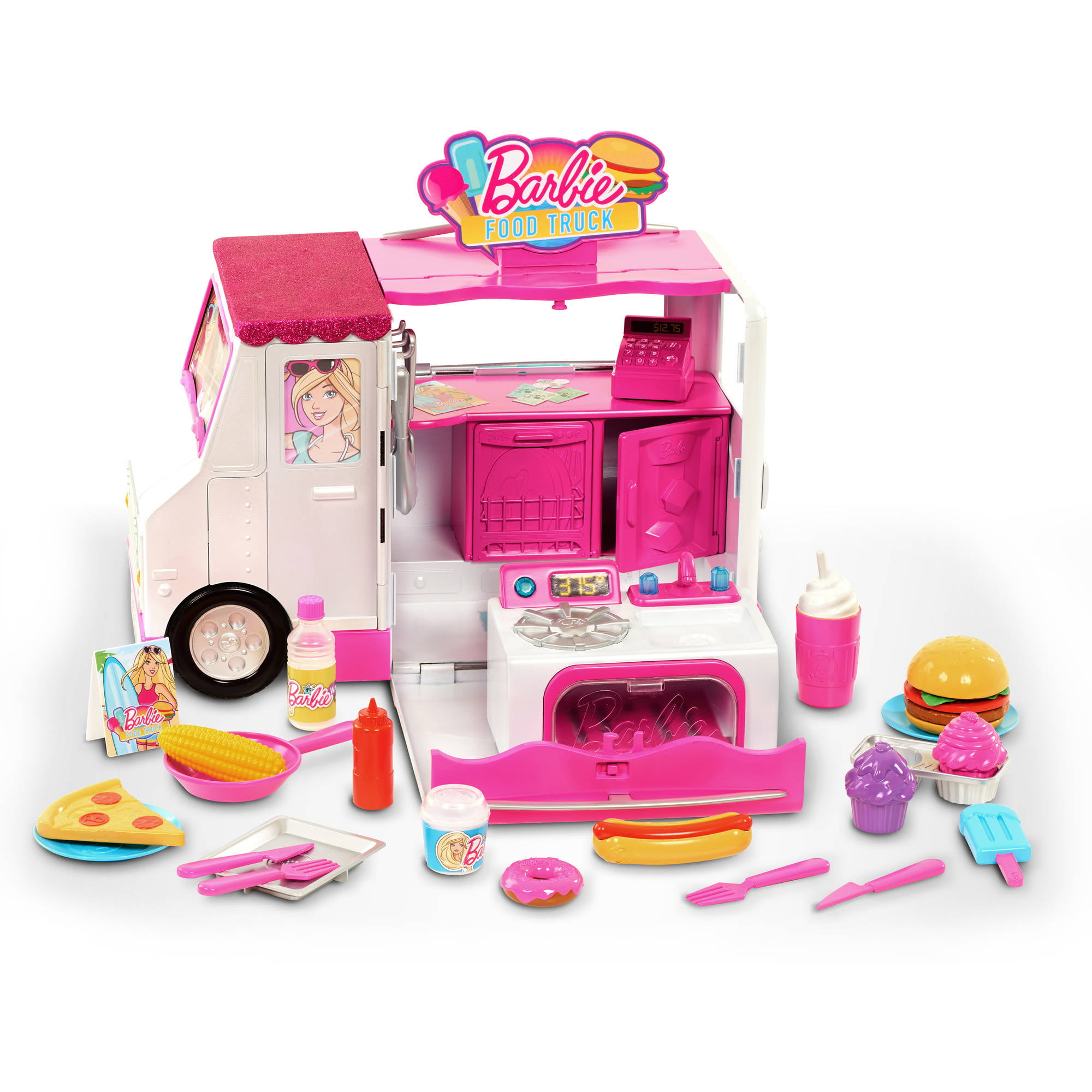 Food Toys For Girls : Barbie food truck play cooking tools girls kids