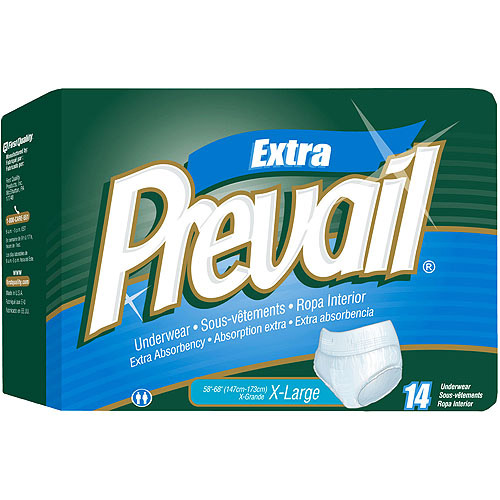 Prevail Protective Adult Underwear, Moderate to Heavy Protection, XL, 56 ct