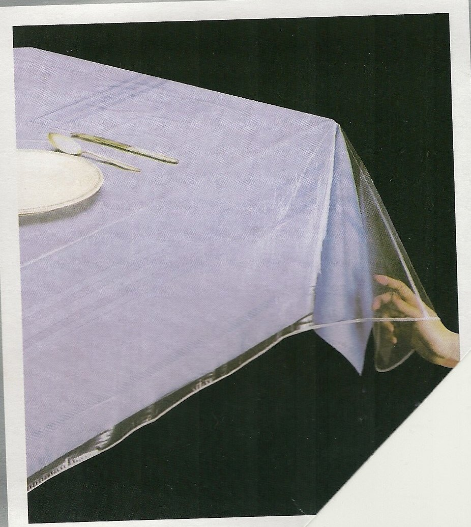 """DELUXE Super Clear Heavy Duty Wide Tablecloth Protector, Oblong 54"""" x 72"""""""
