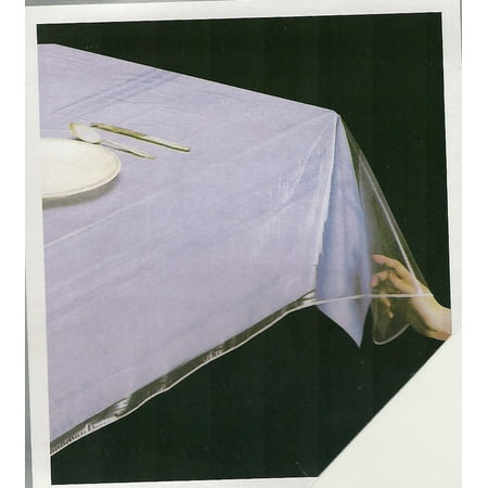 DELUXE Super Clear Heavy Duty Wide Tablecloth Protector, Oblong 54