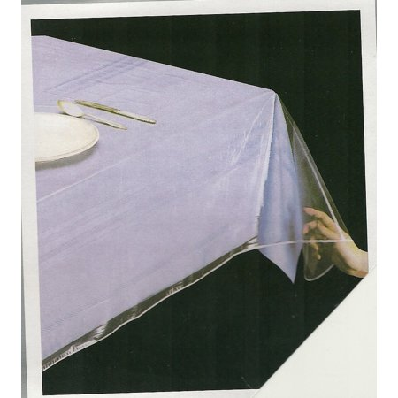 "DELUXE Super Clear Heavy Duty Wide Tablecloth Protector, Oblong 54"" x 72"""